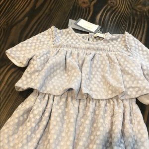 Nueces girls dress size 10 embroidered tiered BLUE